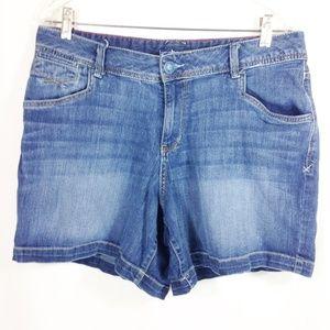 Denim Shorts Distressed Size 16